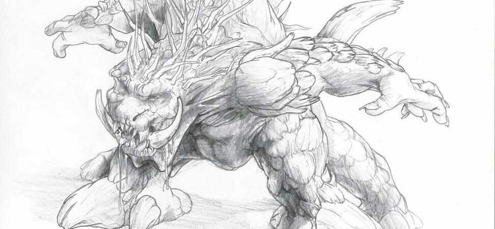 dessin d'une créature dans un style manga